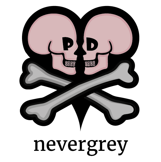 The Nevergrey Skulls Logo
